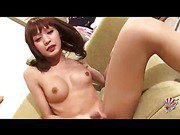 Japanese Milf tranny and her cute big dick