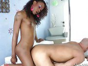 Christian XXX and black shemale Kayla Biggs clip5