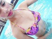 Stunning teen TS Izabelly Marquesine clip2