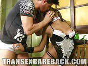 Hot and Naughty TS Maid Fucked
