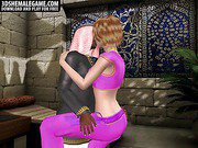Sexy 3D cartoon shemale gets fucked by an ebony stud