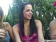 two sexy Brazilian shemales sharing meat clip1