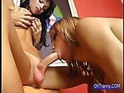 hot and sweet tranny cock sucking
