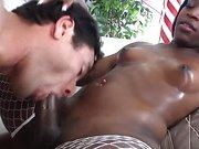 Petite ebony shemale loves blowjobs