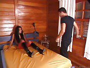 perky latina shemale in mutual oral sex