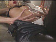 perfect blondie shemale and her black lover