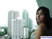 Sexy ladyboy strips down and shows her amazing tits