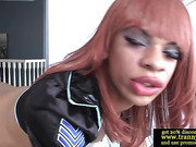 Ebony tranny has her ass eaten out
