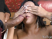 shemale Ivana with big tits love licking and sucking cocks