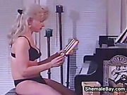 Mature Shemale Smokes And Masturbates