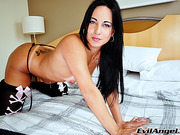 Latina Tgirl Thabata Piurany in her first masturbation scene