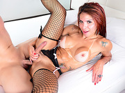Brazilian TS Fernanda Christine gets an ass fuck in a hardcore