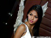 ladyboy Angel is stripping just for you!