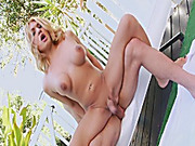 Big boobs TS Gianna Rivera ass fucked