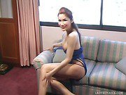Small Shaved Cock On Hot Redhead Ladyboy