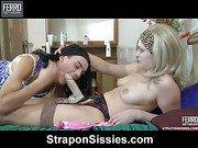 Jaclyn&Arthur strapon sissysex movie