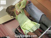 Gilbert&Vincent cocksuking crossdresser in action