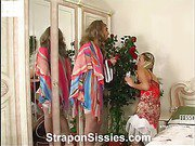 Stephana&Gilbert pussyclothed dude strapon action