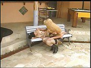 sexual shemale in fishnets pokes a sexy gal