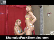 Patricia&Bianca horny shemales in action