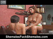 Kelly&Marjorie horny shemales on video