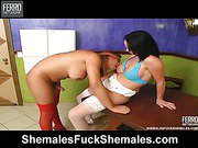 Carla&Patricia awesome shemales on video