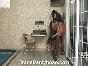 Lorena&Bruna shemale pantyhose sex action