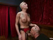 big cock shemale Danny on her slave