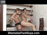 Nicole&Eduardo shemale dicking boy on video
