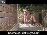 Rabeche&Sena shemale fucks guy video