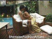 Aline&Sandro shemale fucks dude video