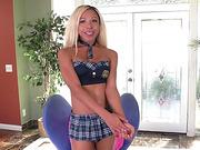 Blondie Transgender Mara loves sucking her boyfriends big dick
