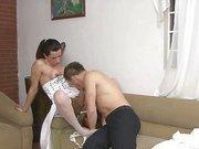 tranny bride gets her cock sucked