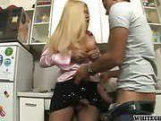 sexual fantasy shemale hot sex in kitchen 1