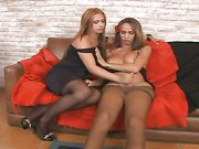 horny chicks with dicks in pantyhose 1