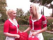 blonde cheerleader anal action outdoors 1