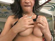 massive cock shemale Jo is getting suck