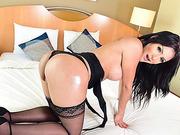 Shemale hottie Deborah receives intense anal fucking with bf