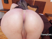 Latina tranny riding black cock