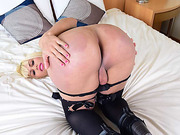 Horny Tgirl Nicoly Sanches sucks cock and gets fucked in the ass
