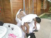 sweet blonde shemale bride on her lover 4