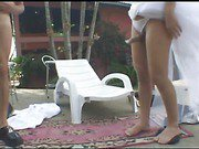 blonde shemale bride outdoors fucks her man 3