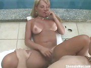busty shemale spreading for a dick 1