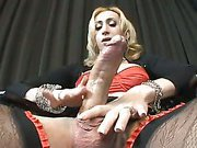 super big cock shemale gets hot blowjob