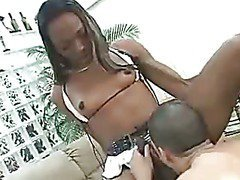 ebony tranny is getting her big hard cock sucked