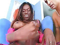 killer busty shemale plays her massive cock