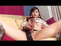 young Japanese new half with a big long cock
