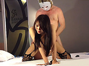 Huge juggs ladyboy fetish blowjob and anal doggystyle