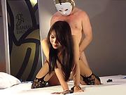 Huge juggs ladyboy fetish blowjob and anal doggystyle