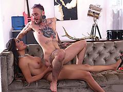 TS superstar Venus Lux fucks pervert male in his pussy